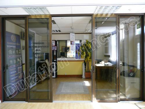 Aluminium Room Dividers Glass Sliding Room Partitions