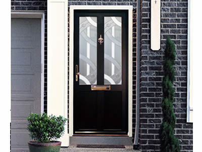 Slim Aluminium Luxury Entrance Front Door 70mm Frame